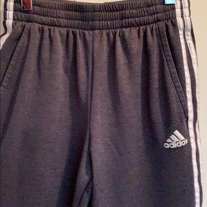 Boys lg 14/16 Adidas training pants heathers black
